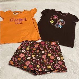 Matching Sets - Toddler Tops and Short. EUC